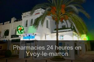 Pharmacies 24 heures en Yvoy-le-marron